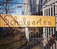 Schild Schulgarten