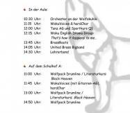 50 Jahre Wolfskuhle - Programm Schulfest