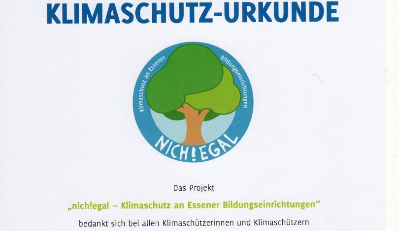 """Klimaschutzprämie der Stadt Essen für die WOKU: """"nich!egal"""" auch 2019"""